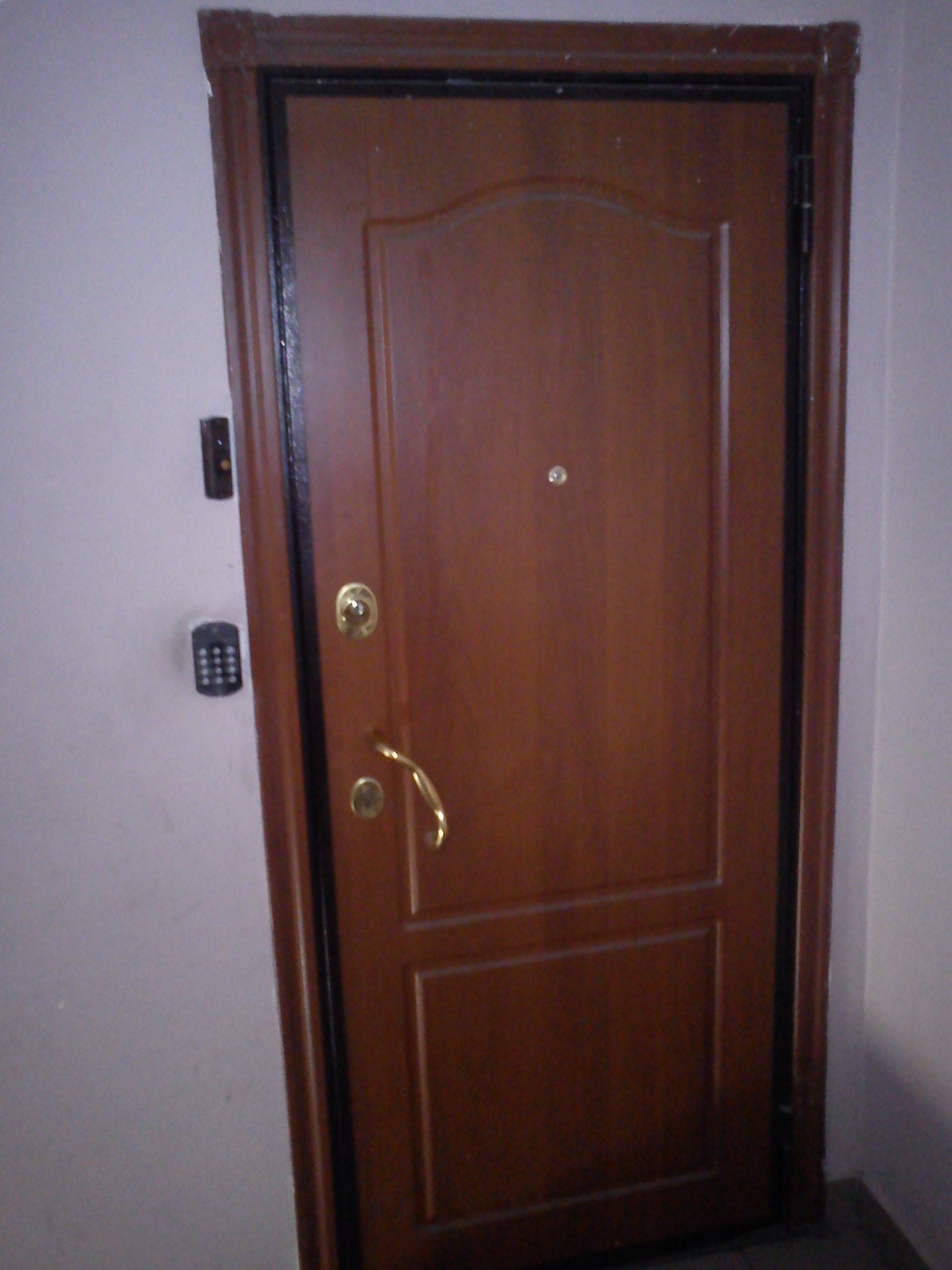 схема наружного двери железной